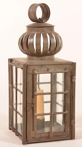 19th Century Tin Candle Lantern.