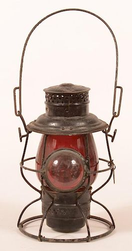 Adlake Reliable PRR Red shade Railroad Lantern.