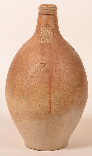 German 18th Century Stoneware Bellarmine Jug.