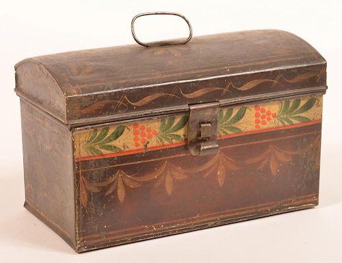 PA 19th Century Toleware Document Box.