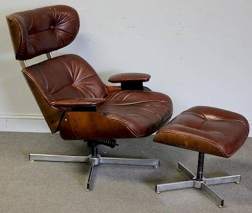 Midcentury Selig Eames Style Lounge Chair with by Clarke ...