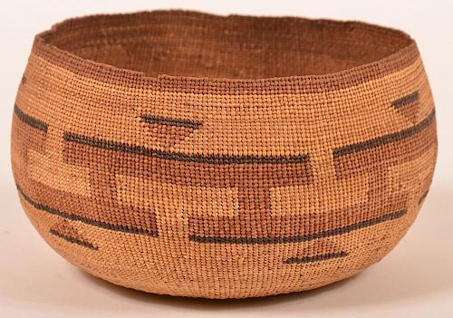 Late 19th/Early 20th Century Hupa Indian Basket.