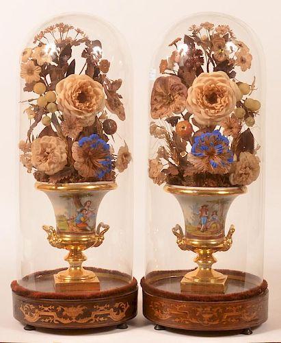 Pair of Tucker Style Porcelain Urns.