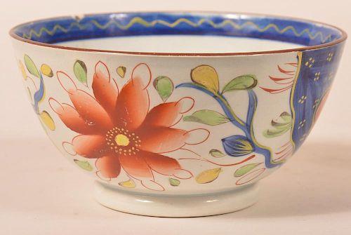 Gaudy Dutch Sunflower Pattern. China Waste Bowl.