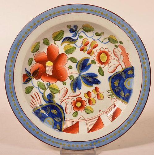 Gaudy Dutch Single Rose Pattern. China Plate.