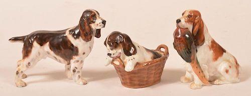 3 Royal Doulton Cocker Spaniel Figurines.
