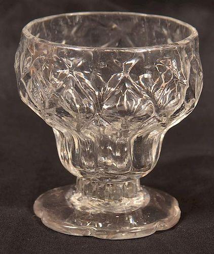 Stiegel Type Colorless Blown Glass Master salt.