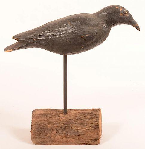 Antique Balsa Wood Crow Decoy.