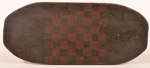 19th Century Softwood Painted Game Board.
