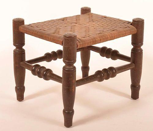 19th Century Walnut Footstool.