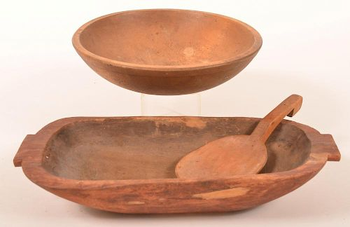 3 Pcs. of  19th Century woodenwares.