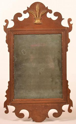 Chippendale Mahogany Framed Mirror.