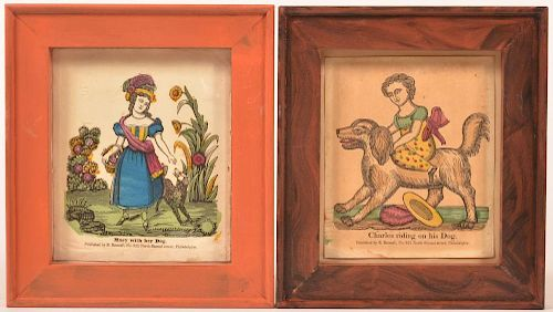Two Early 19th Century Hand Colored Prints.