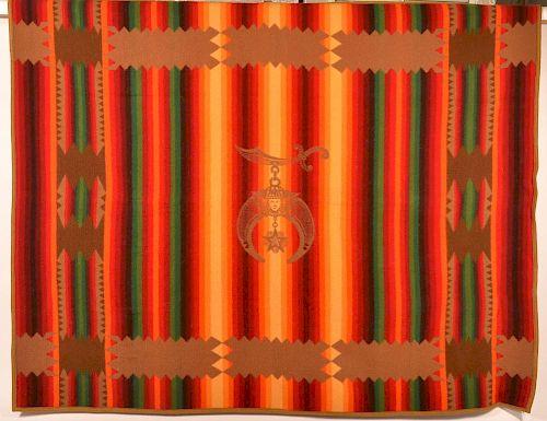 Pendleton Wool Blanket w/ Masonic Medallion.