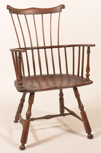 Pennsylvania Windsor Comb-back Armchair.