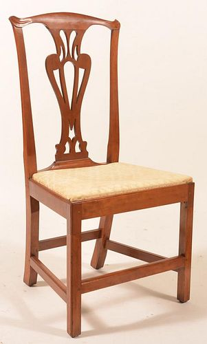 American Chippendale Cherry Side chair.