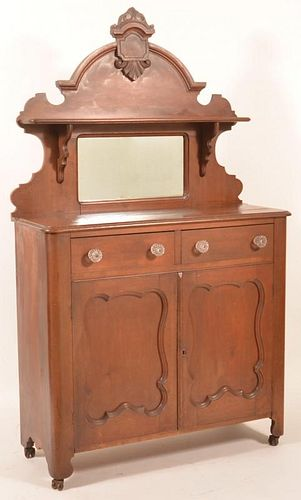 American Victorian Walnut Jelly Cupboard.