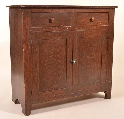 P 19th Century Grain Paint Dec. Jelly Cupboard.