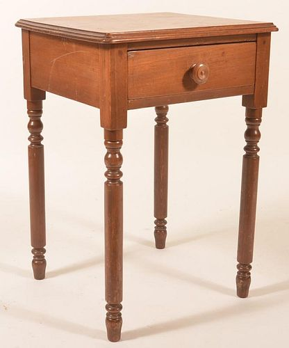 PA Federal Mixed Wood One Drawer Stand.