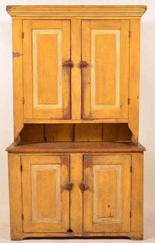 Softwood Step-Back Blind Door Cupboard.