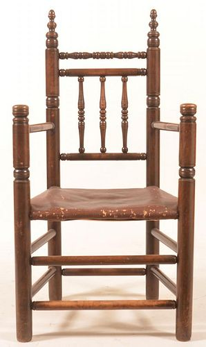 Mixed Wood 19th Century Armchair.