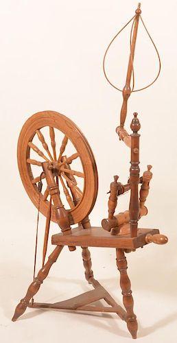Pennsylvania Mixed Wood Spinning Wheel.