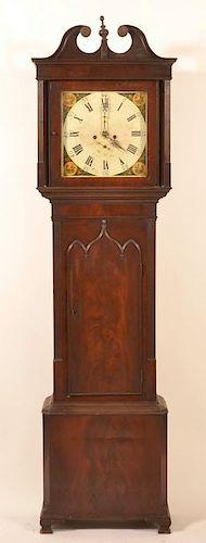 English or Scottish Federal Mahogany. Tall Case Clock.