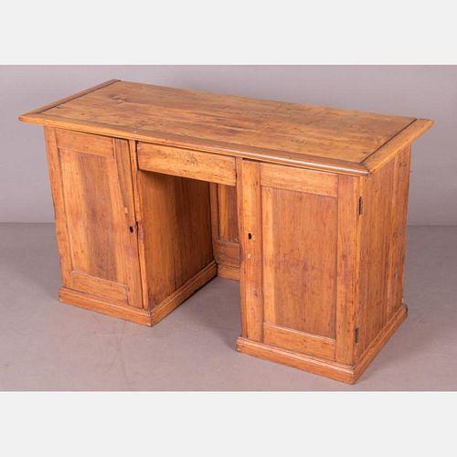 An American Pine Desk, 19th Century.