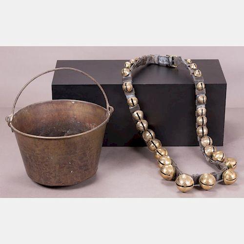 A Set of Twenty-Nine Graduated Sleigh Bells, 20th Century,