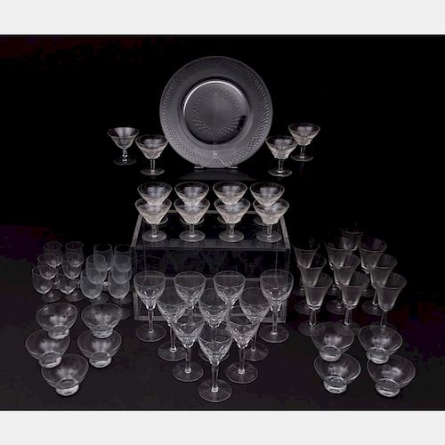 A Miscellaneous Collection of Crystal and Blown Glass Stemware, 20th Century.