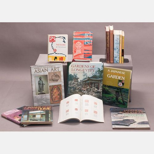 A Miscellaneous Collection of Fourteen Books Pertaining to Japanese and Asian Art and Gardening, 20th Century,