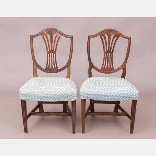 A Pair of Hepplewhite Mahogany Side Chairs, 18th Century.