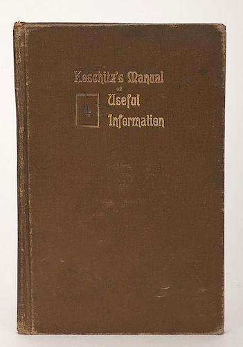 KoschitzÍs Manual of Useful Information