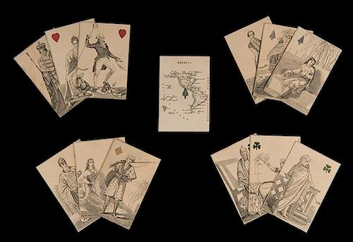 Charles Hodges Geographical Playing Cards. London