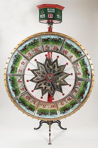 H.C. Evans Horse Race Gambling Wheel. Chicago