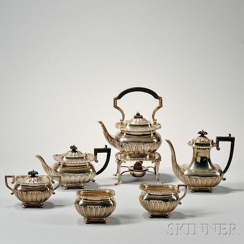 Six-piece George V Sterling Silver Tea and Coffee Service