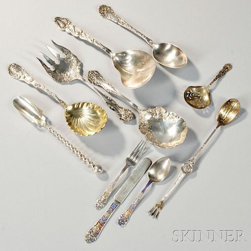 Eleven Pieces of Sterling Silver Flatware