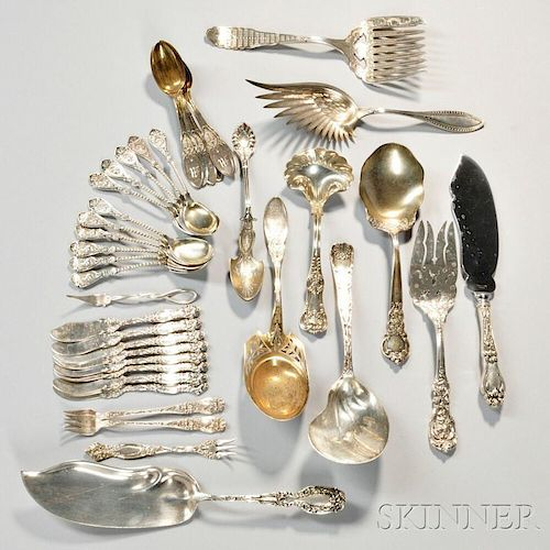 Thirty-nine Pieces of American Silver Flatware