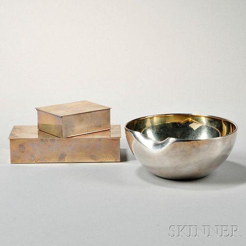 Three Modern Tiffany & Co. Sterling Silver Items