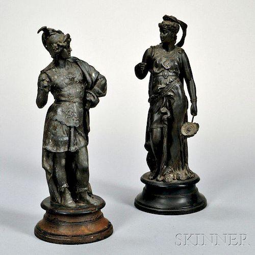 Two Grand Tour Metal Figures