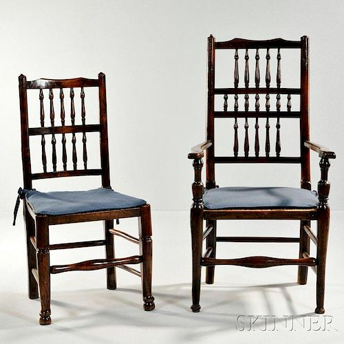 Eight Victorian Elmwood Dining Chairs