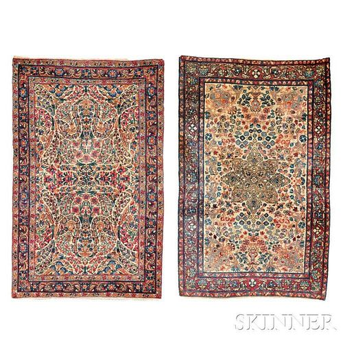 Two Kerman Small Rugs