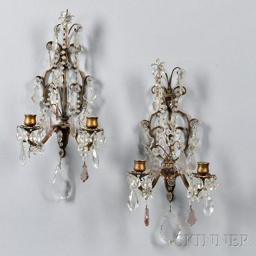 Pair of Gilt-metal Wall Sconces