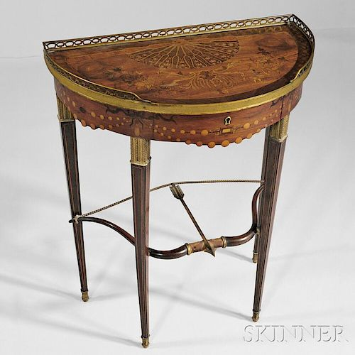 Directoire-style Marquetry Inlaid Gueridon
