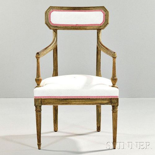 Neoclassical Giltwood Armchair