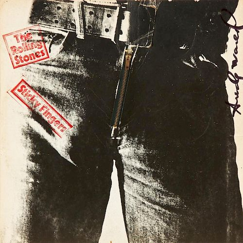 """Andy Warhol (1928-1987) Signed Rolling Stones """"Sticky Fingers"""" Album"""