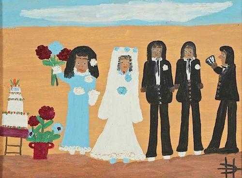 """Clementine Hunter (1886-1988) """"Wedding"""""""