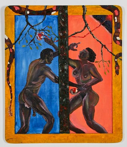 "Roger Rice (b. 1958) ""Adam and Eve"", c. 1989"