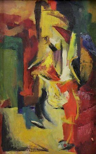 """STEVENSON, Beulah. Oil on Canvas """"Still Life with"""