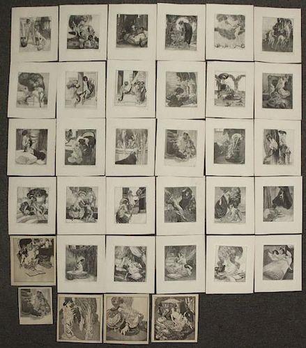 VON BAYROS, Franz. 34 Erotic Heliogravures.